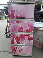"""Комод на 4 ящика с декором """"Орхидея 2""""  Алеана кремовый"""