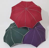 Зонт подростковый полуавтомат однотонный