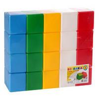 """Іграшка """"Кубики Веселка 3"""" (20 елементів) 28×14×7 см ТехноК 1707"""