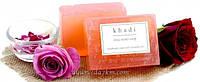 Натуральное аюрведическое мыло Розовая вода Кхади 125 г Khadi Rose Water Soap