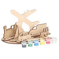 Сборная деревянная модель транспорт + краски