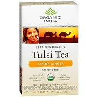 Органик Чай с лимоном и имбирем Organic India Tulsi Tea Lemon Ginger 18 пакет
