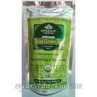 Органик Туласи зеленый чай (пакет с застежкой) Organic India Tulsi green tea (Zipper)