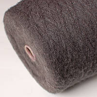 Пряжа-мохер, серый тёмный (50% мохер, 50% ПА; 1000 м/100 г)