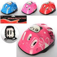 Шлем MS 0035  26-19,5-14см, 6 отверстий, размер средний, 4 цвета, в кульке,26-33-14см