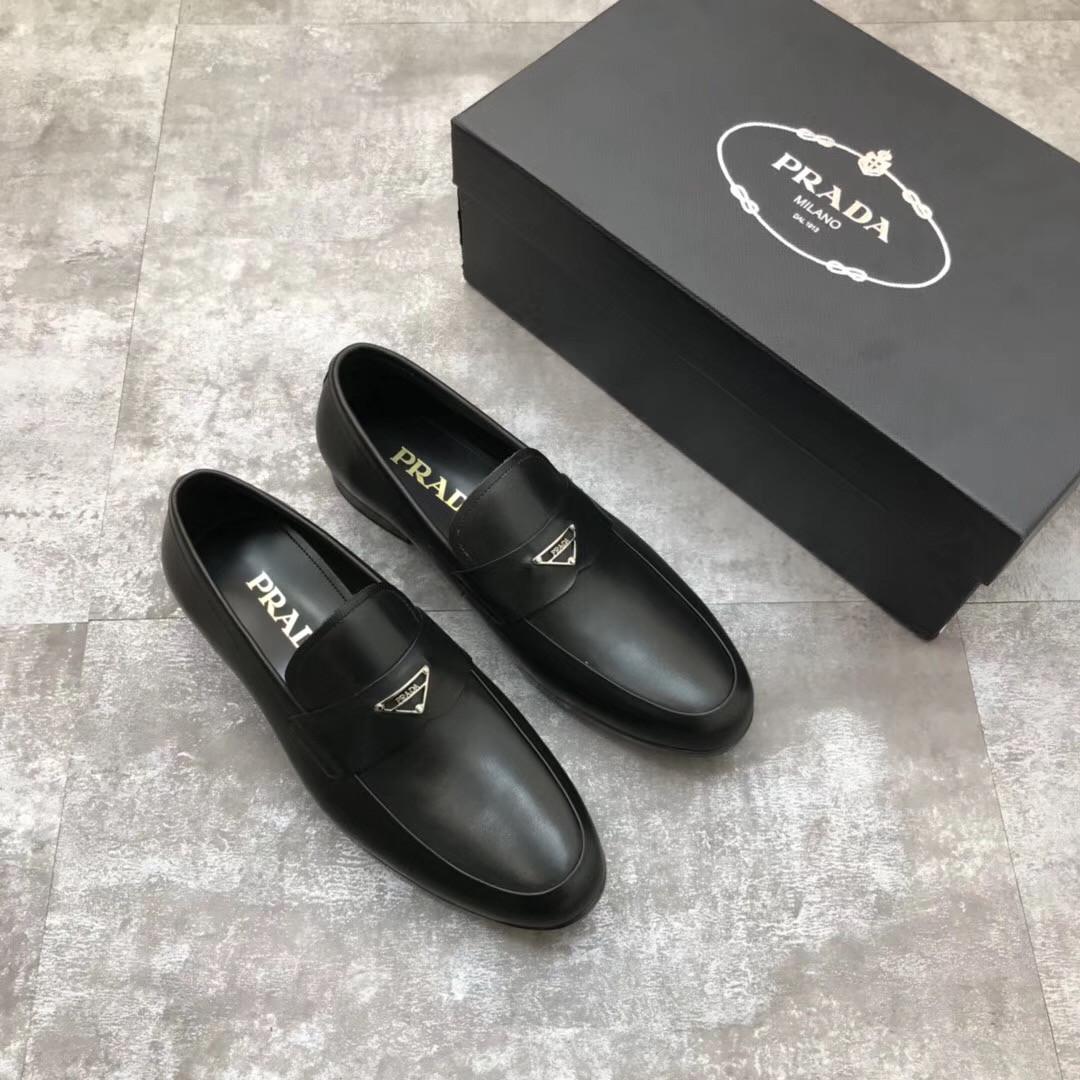 Туфли лоферы мужские Prada
