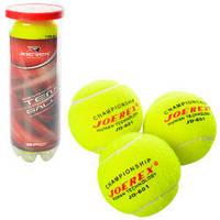 Теннисные мячи MS 1248  3шт, 6,5см, 1 сорт, 40% натур шерсть,трениров, в колбе,21-7,5-7,5см