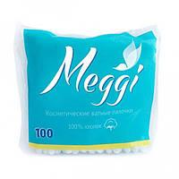 Ватные палочки Meggi 100 шт (пакет)