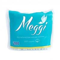 Ватные палочки Meggi 200 шт (пакет)