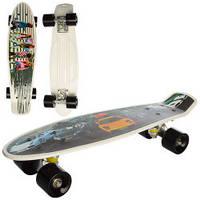 Скейт MS 0749  пенни56-14,5см, алюм.подвеска, колесаПУ, фото-принт, разобр, 2 вида, в кульке,