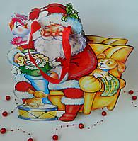 Новорічний пакет паперовий фігурний Х 2733, 30*27*6 см Новогодний пакет бумажный фигурный