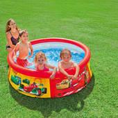 """Детский наливной бассейн Intex 28103 """"Cars"""" Тачки (183-51 см)"""