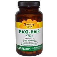 Витамины для волос, Country Life,  120 капсул