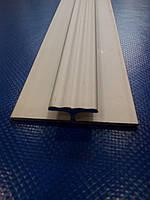 Профиль алюминиевый декор (анод)  Н-образный 40х14х1,5 (паз 4мм.)