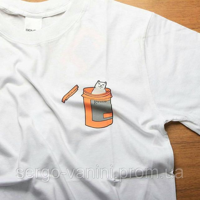 RipNDip топовая футболка. Белая мужская футба. Любой размер