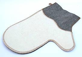 Рукавичка для сауны (комбинированный войлок)