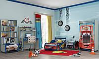 Детская комната Молния Маквин синяя