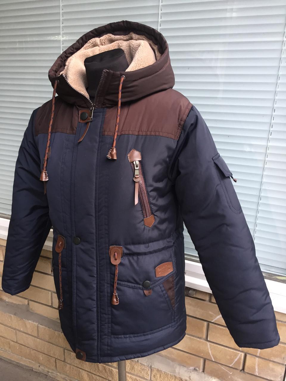 a224af63c13 Зимняя парка на овчине для мальчика подростка (36-46 рр)  продажа ...