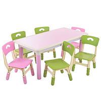 Детский столик со стульчиками Metr+ TABLE3-8