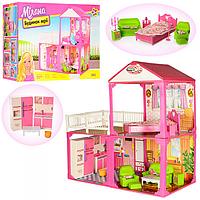 Кукольный домик  (6982) 2этажа,3комнаты,мебель,для куклы