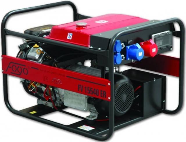 Бензиновый трехфазный генератор Fogo FV 15540 ER (установлен стабилизатор напряжения)