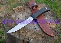 Нож охотничий в кожаном чехле Нержавеющая сталь