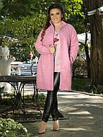 Пальто женское шерстяное букле на пуговицах P7923