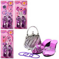 Косметика A 038-041  туфли,телефон,расческа,колье,заколки для волос,на листе, 47,5-21,5-5см