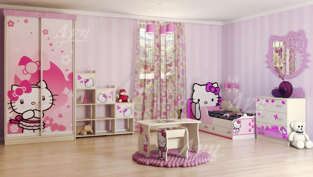 Детская комната Hello Kitty 7 элементов Хеллоу Китти