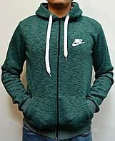 Толстовка с капюшоном на молнии Nike - зеленая