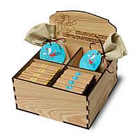 Деревянная коробочка для шоколада с предсказаниями Happy Bag, фото 1