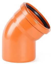 Wavin коліно для зовнішньої каналізації 110/45°, фото 2