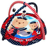 Коврик гимнастический Медведь-моряк, в сумке 80*60см, ТМ Baby Mix(Q/3406C-62104)
