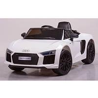 Детский электромобиль JJ2198EBLR-1,Белый, мягкие колеса,кожаное сиденье