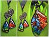 "Набор кулон и серьги ""Крылья бабочки"""