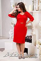 Платье женское, размер 48, 50, 52, 54, 56. Ткань креп-трикотаж, украшено гипюром на атласной основе.  3 цвета
