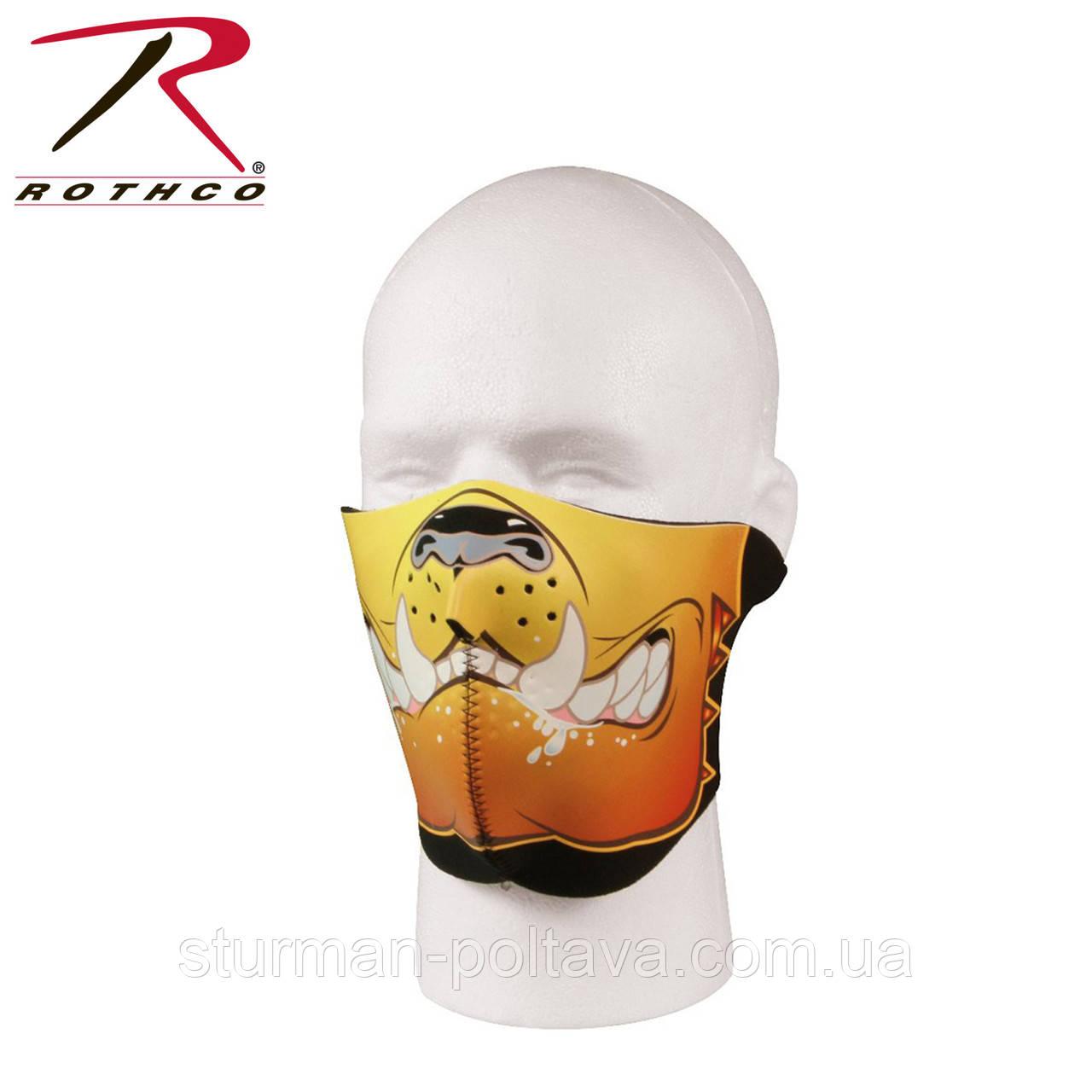"Термомаска на обличчя неопренова з малюнком ""Bulldog"" (Rothco) USA"