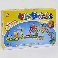 """Конструктор на шестерёнках """"DIY BRICKS"""", музыкальный, батар., 83 дет., в кор. 48*32*8см (10шт)(9705)"""