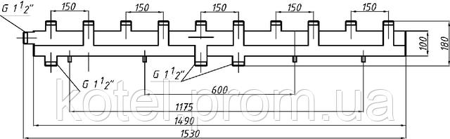 Схема коллектора СК 592.150 на 6 контуров
