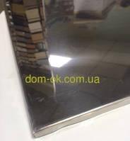 Зеркальные металлические кассеты 600х600 из нержавейки 0,5 мм Плоская