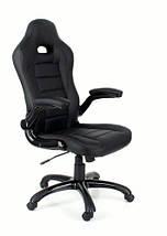 Кресло компьютерное кожаное ЕКО 24604 черное, фото 2
