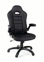 Кресло компьютерное кожаное ЕКО 24604 черное