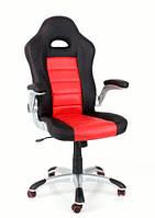 Кресло компьютерное кожаное ЕКО 24604 черно-красное