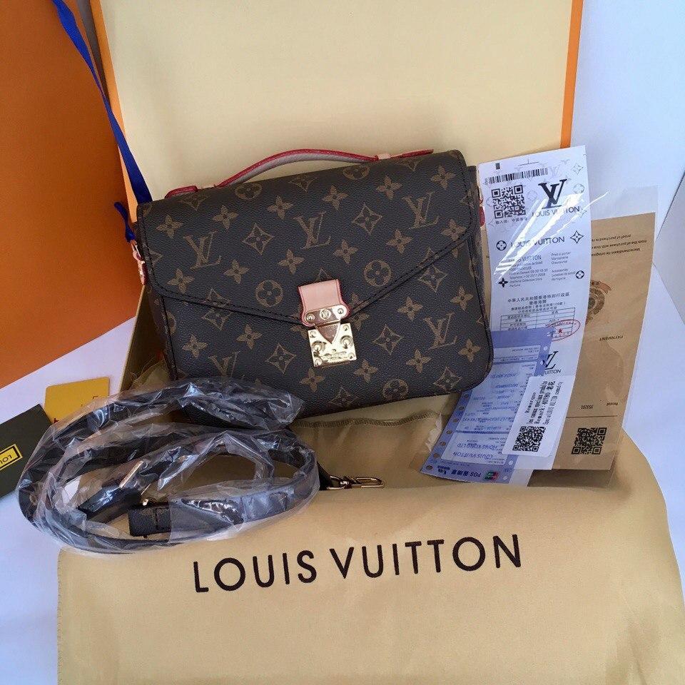 Сумка Louis Vuitton, Луи Витон Pochette Metis Monogram, кожаная ... 9b9ec5cefea