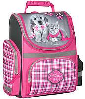 Рюкзак школьный PASO с собакой и кошкой RHM-525