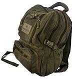 Рюкзак из холста GOLD BE. Городской рюкзак. Стильный рюкзак. Молодёжный рюкзак. Качественный рюкзак., фото 3