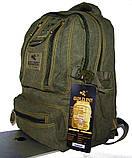 Рюкзак из холста GOLD BE. Городской рюкзак. Стильный рюкзак. Молодёжный рюкзак. Качественный рюкзак., фото 6
