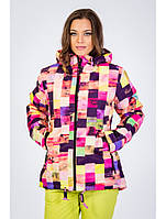 Женская молодежная горнолыжная куртка. Яркая и цветная