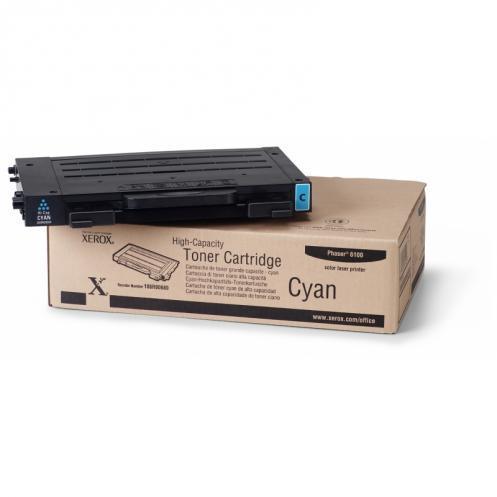 Тонер картридж Xerox PH6100 Cyan (Max)