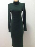 Платье трикотаж зеленое